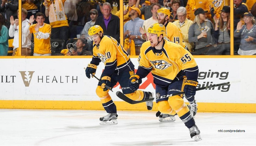 new style 6111c d9247 Nashville Predators Gear Up for Game 1 of Stanley Cup Final ...
