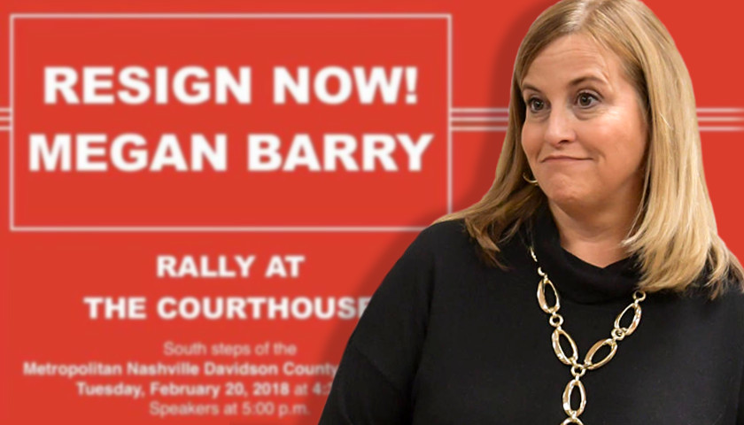 'Resign Now! Megan Barry' Rally Set for Tomorrow at Metro Nashville Courthouse