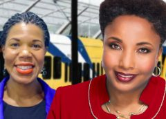 Erica Gilmore (left) and Carol Swain