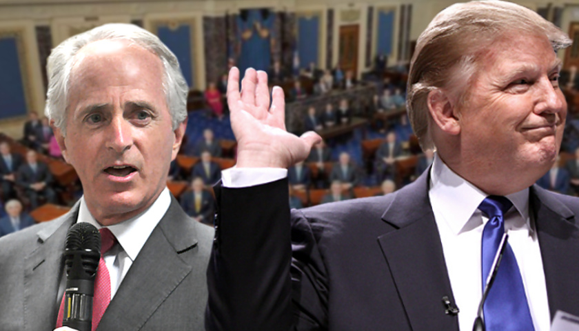 Bob Corker and Donald Trump