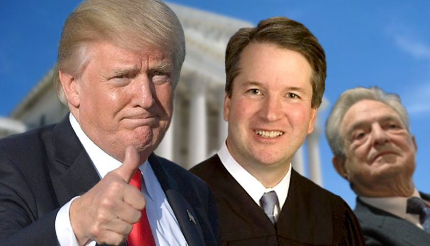 Donald Trump, Brett Kavanaugh, George Soros