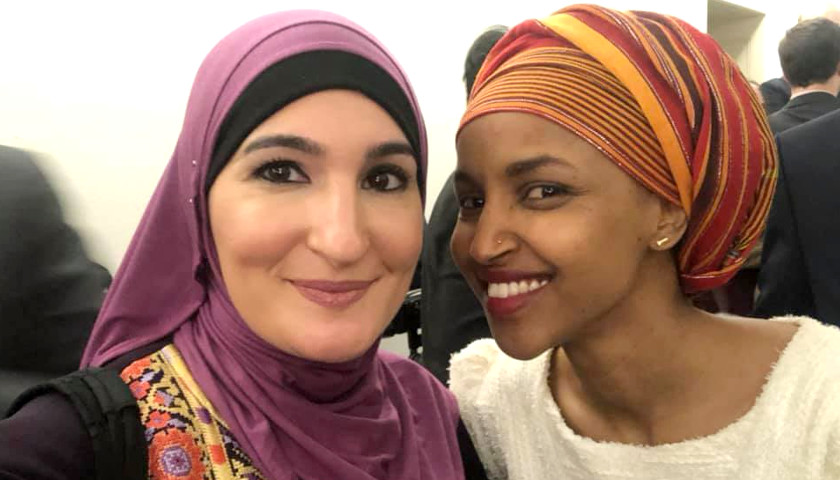 ilhan omar pictured with anti