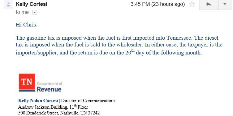 Tennessee Star - Email reply