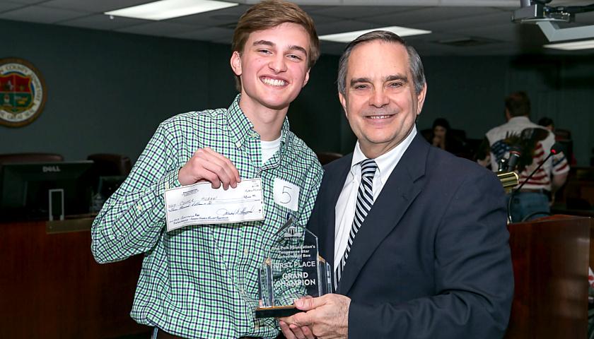 Cooper Moran Wins Constitution Bee
