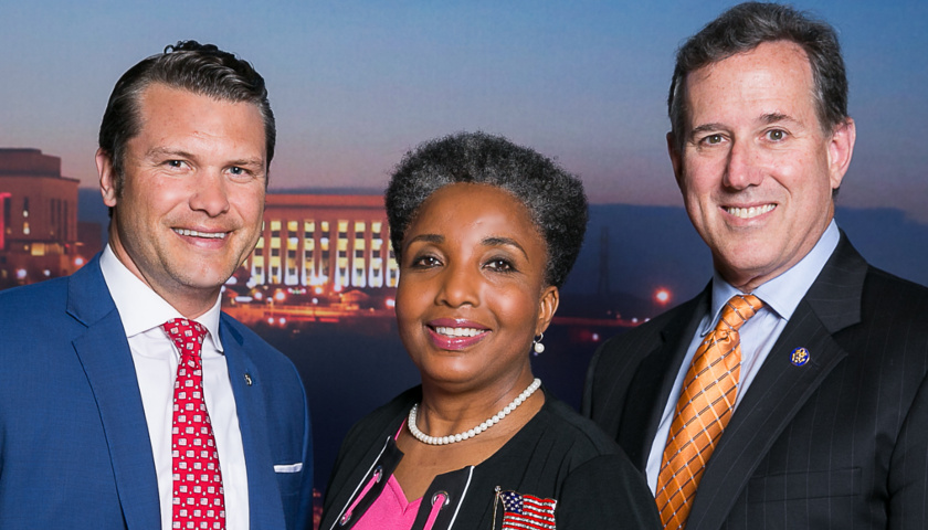 Carol Swain with Pete Hegseth and Rick Santorum