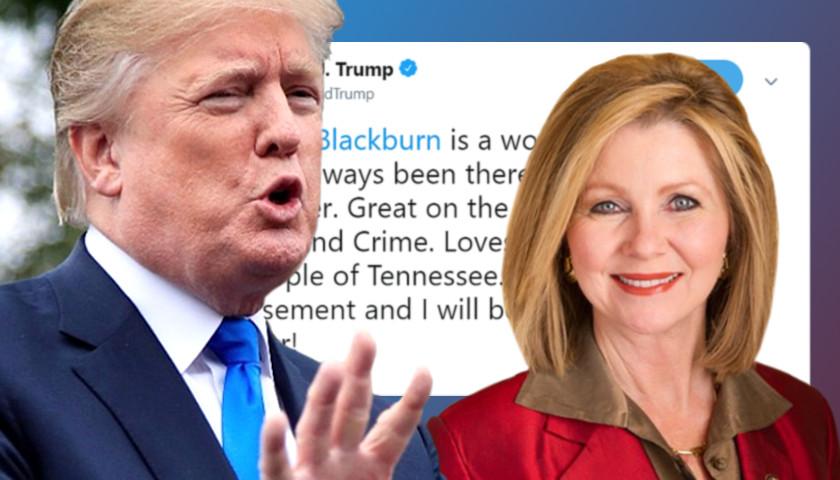 Trump endorses Blackburn