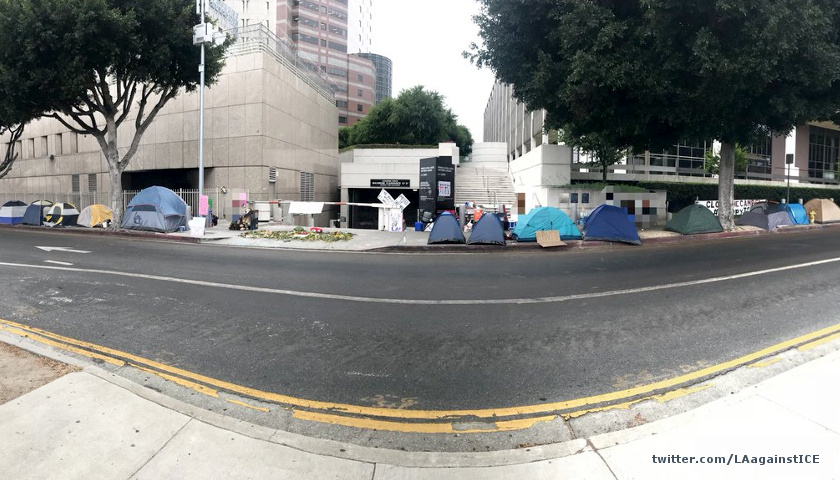 Anti-ICE camp