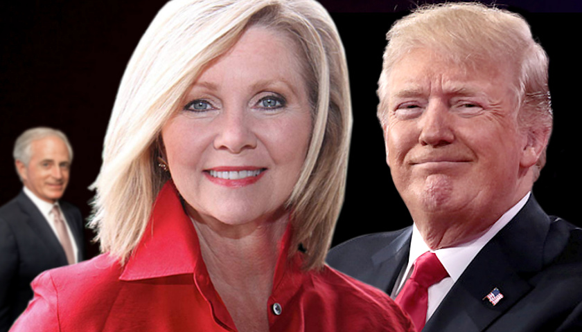 Bob Corker, Marsha Blackburn, Donald Trump