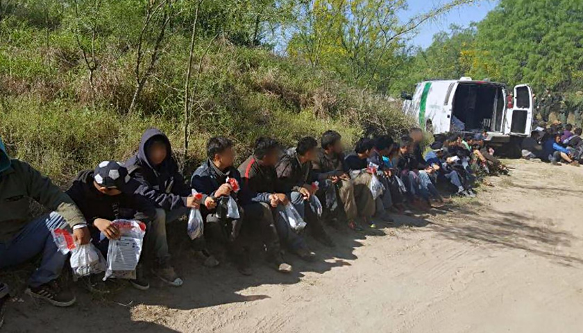 Border Patrol arrest illegal aliens