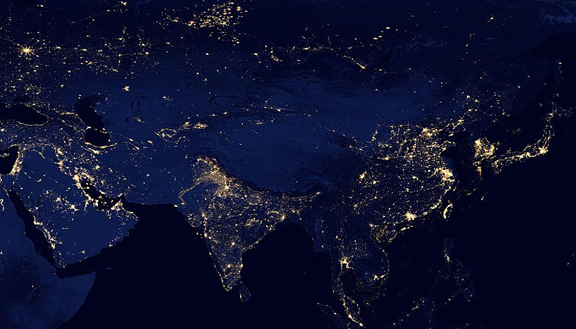 Earth's city lights at night