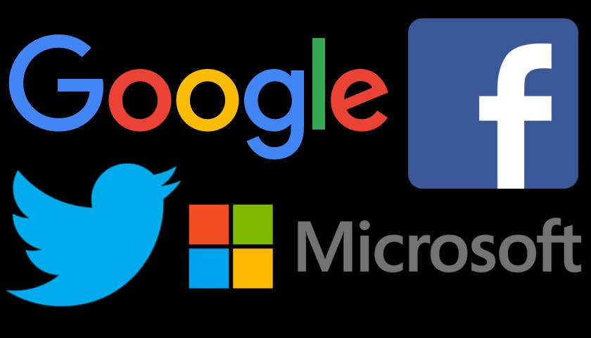 Google, Facebook, Twitter, Microsoft