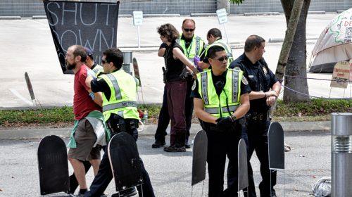 CoreCivic anti-ICE protest