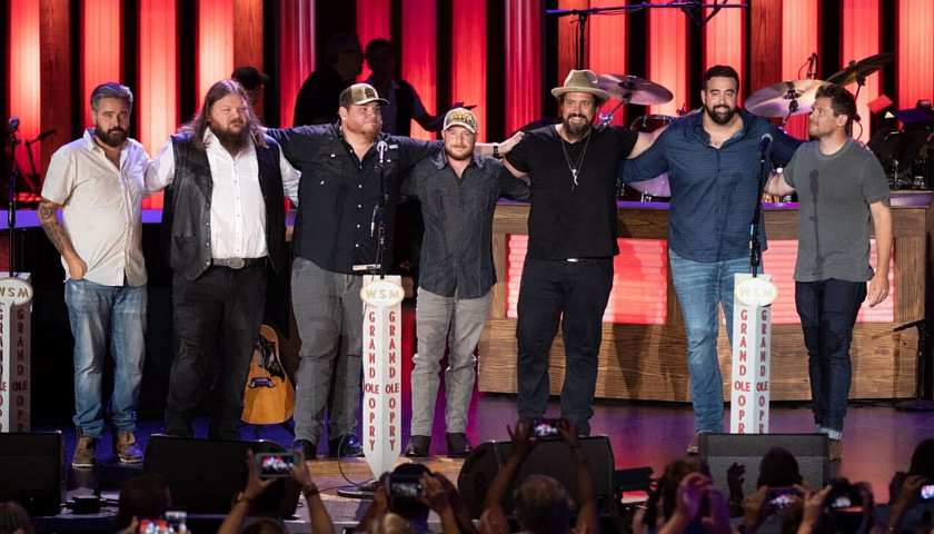 Luke Combs and friends