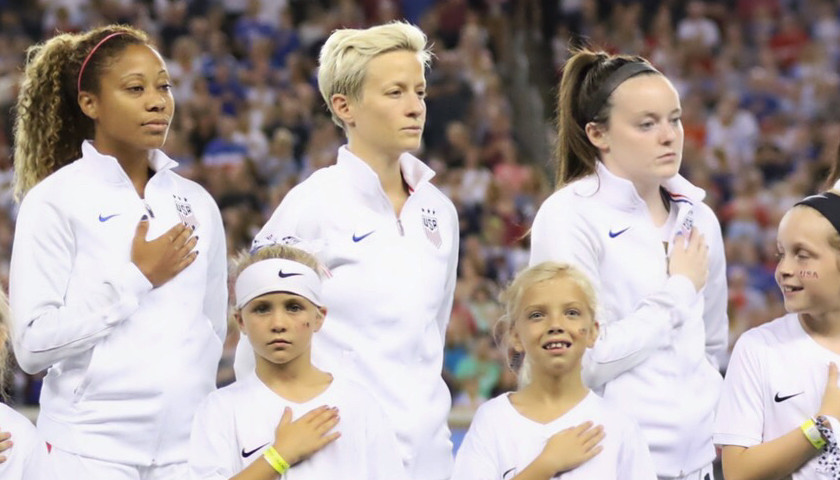 US Women's Soccer Player Ignored the National Anthem as an 'F-You