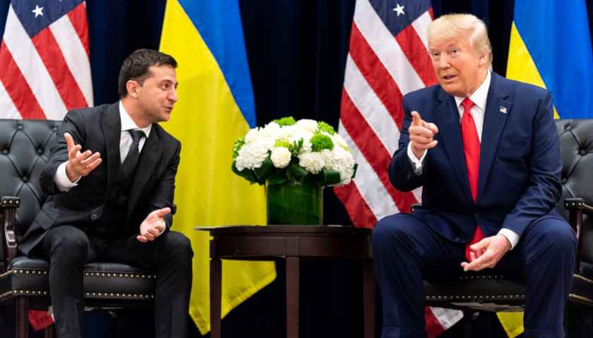 US Pres. Trump and Ukrainian Pres. Zelensky