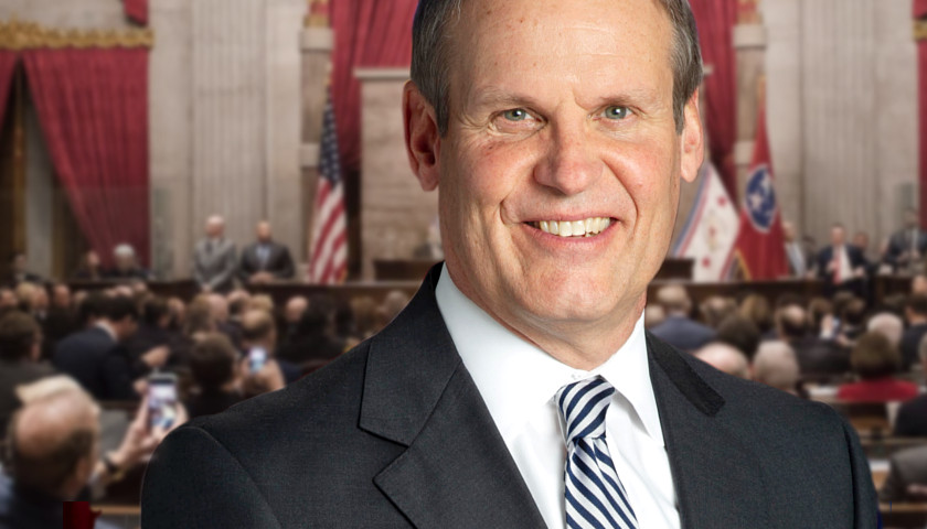 Bill Lee on the State House floor