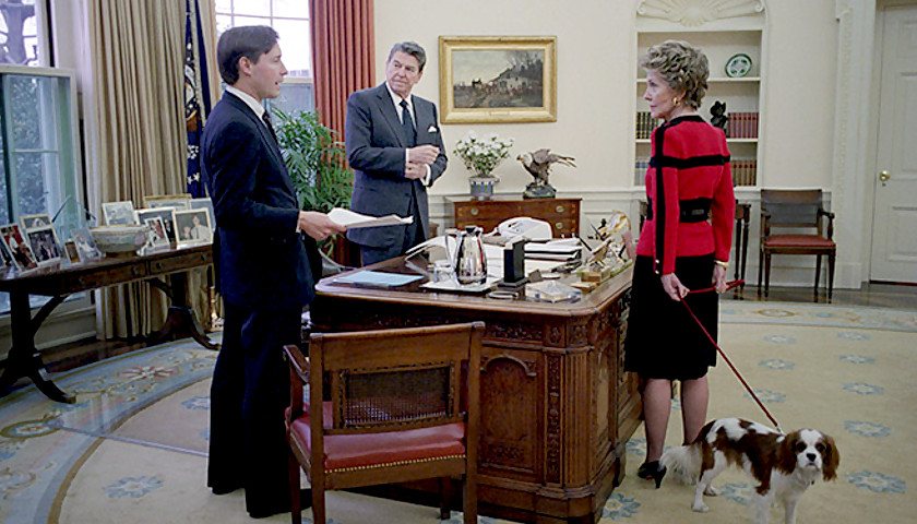 Jim Kuhn with President Reagan