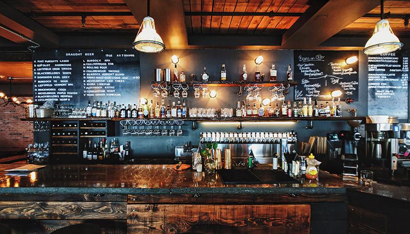 Empty bar in restaurant