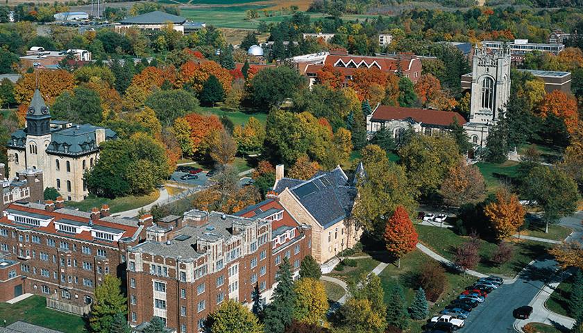 Aerial photo of Carleton College