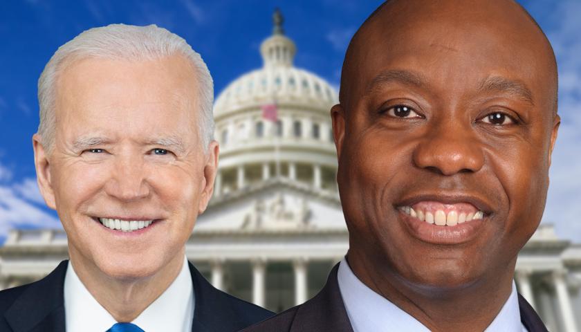 Joe Biden and Tim Scott