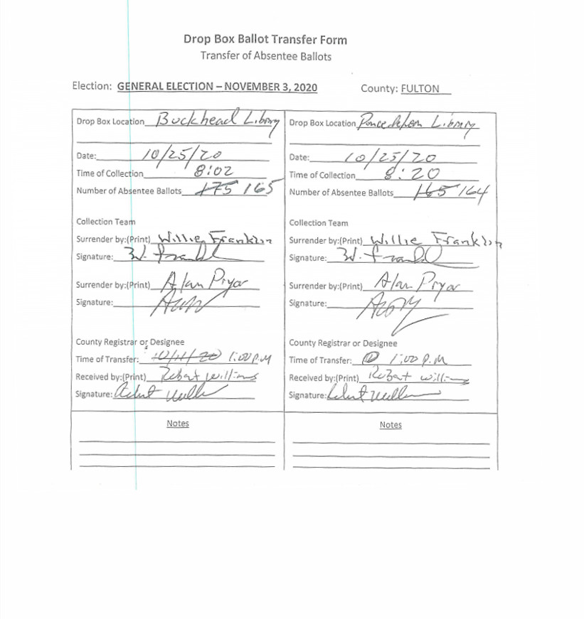 Ballot Transfer Form - Jan 22