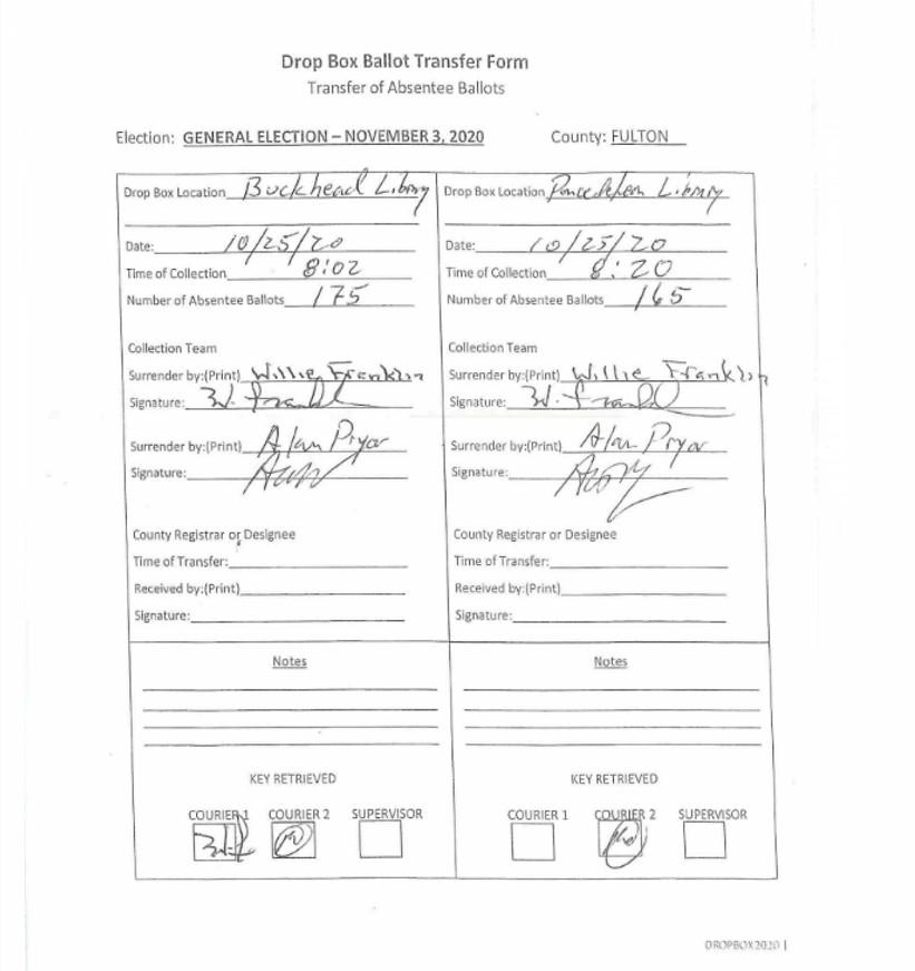 Ballot Transfer Form - May
