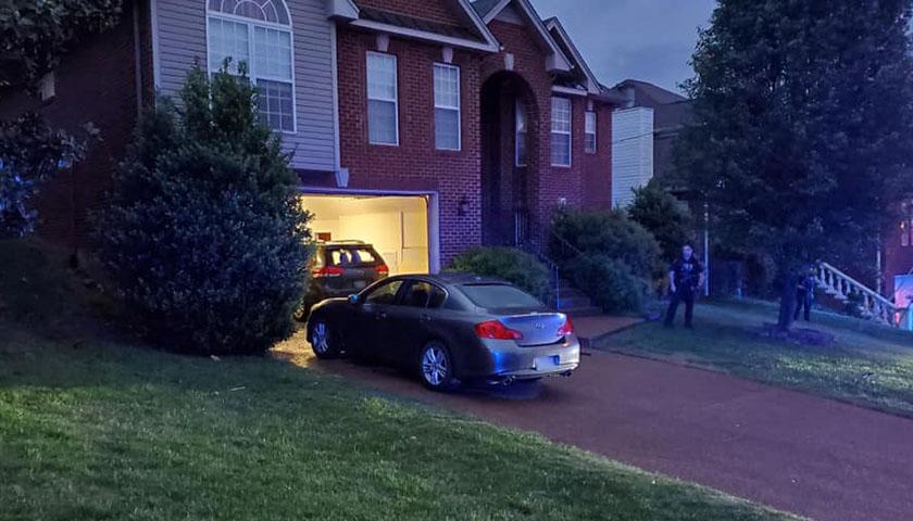 Metropolitan Nashville Police Department at house in suburbs
