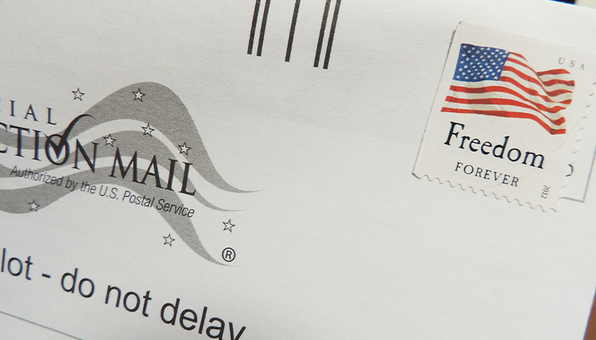 Close up of mail in ballot