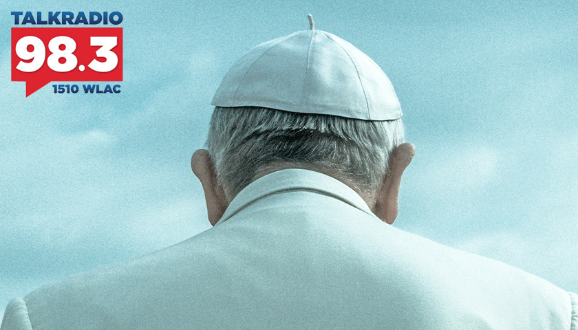 Pope Francis from behind