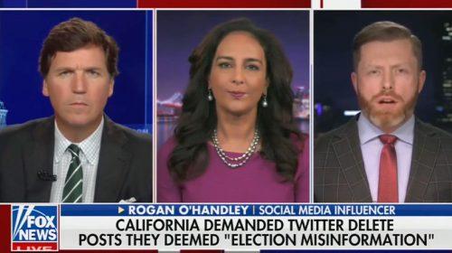 Screen cap of Fox News interview