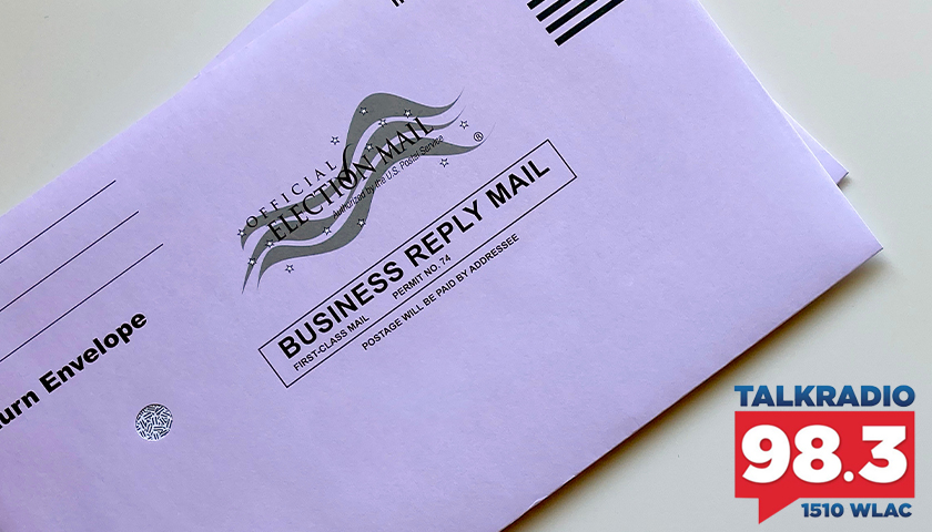 Mail in ballot envelope
