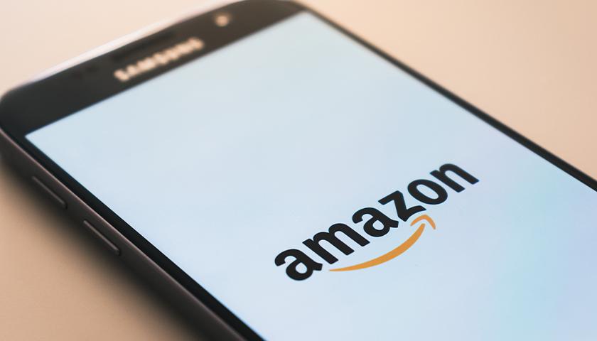 Amazon logo on Samsung smartphone screen