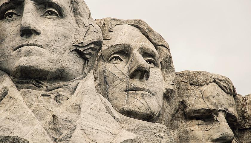 Close-up of Mt. Rushmore