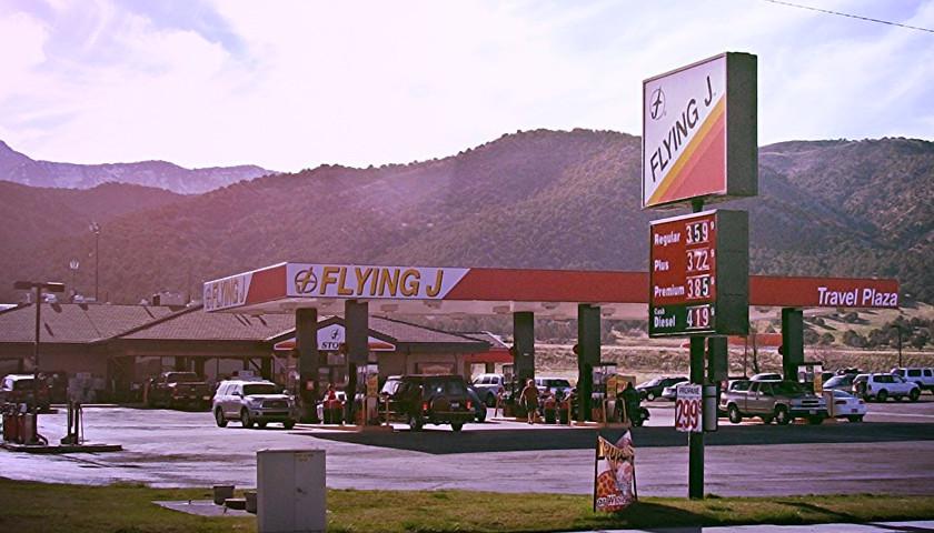 Flying J gas station, Nephi, Utah