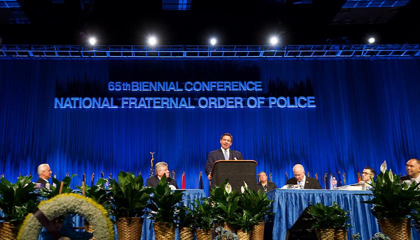 Ron DeSantis at the FOP Convention