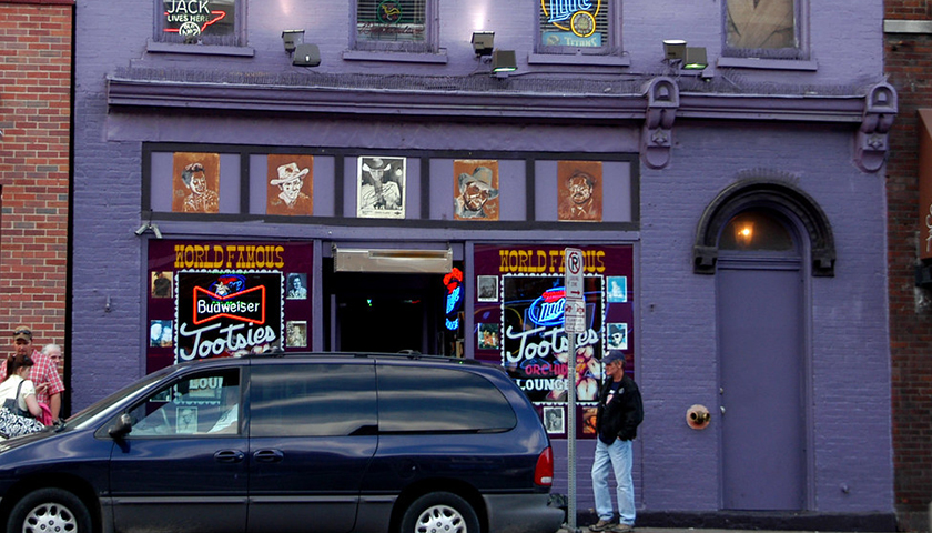 Tootsie's Orchid Lounge, Nashville, Tennessee. One of Nashville's renowned honky-tonk bars, Tootsie's has featured over the years many performing artists who have since become famous, such as Willie Nelson, Patsy Cline and Kris Kristofferson.