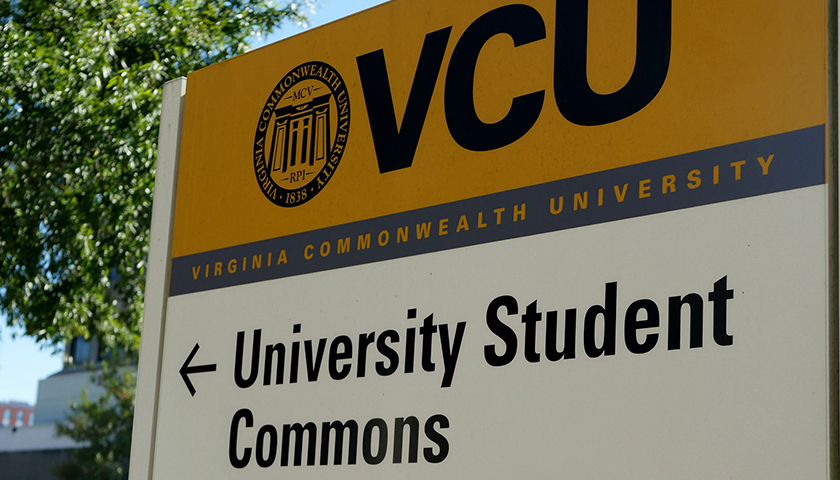 Virginia Commonwealth University sign to University Student Commons