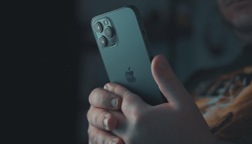 Person holding an iPhone