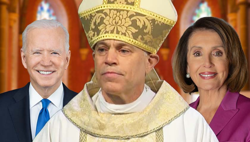 Joe Biden, Archbishop Salvatore J. Cordileone and Nancy Pelosi
