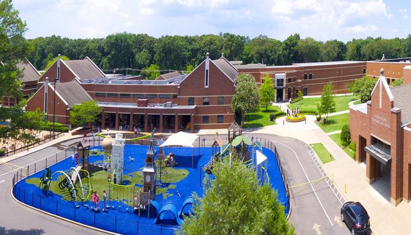 aerial view of Lausanne Collegiate School