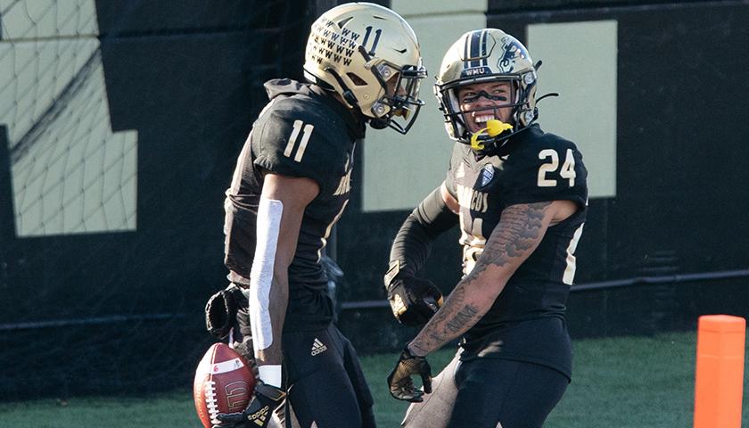 Two football players who attend Western Michigan University