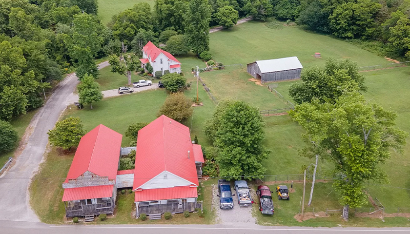 aerial shot of water Valley in Maury County, Tennessee